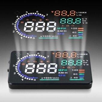 A8 5.5\ OBD II Car HUD Head Up Display with Speed Fatigue Warning  - intl