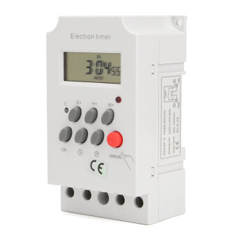 AC 220V 25A Din Rail Digital Programmable Electronic Timer Switch For KG316T-II - intl