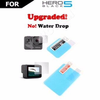 Accessries FOR GoPro ฟิล์มกันรอย เลนส์ จอ ชนิดน้ำไม่เกาะ กันน้ำ GOPRO HERO 5 Protective film Lens + LCD Screen Action Camera