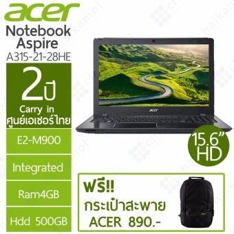 ACER Notebook A315-21-28HE 15.6HD / AMD E2-9000 / 4GB / 500GB / 2Y
