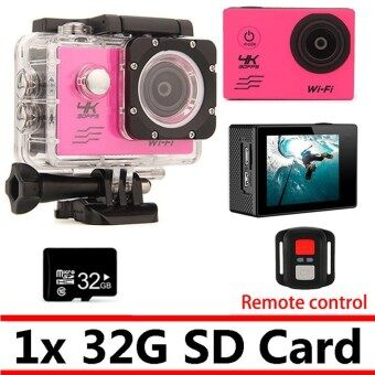 Action Camera 4K WIFI Remote-Control Outdoor Underwater Waterproof Diving Surfing Cycling Cameras With 32GB SD Card and Accessories - intl