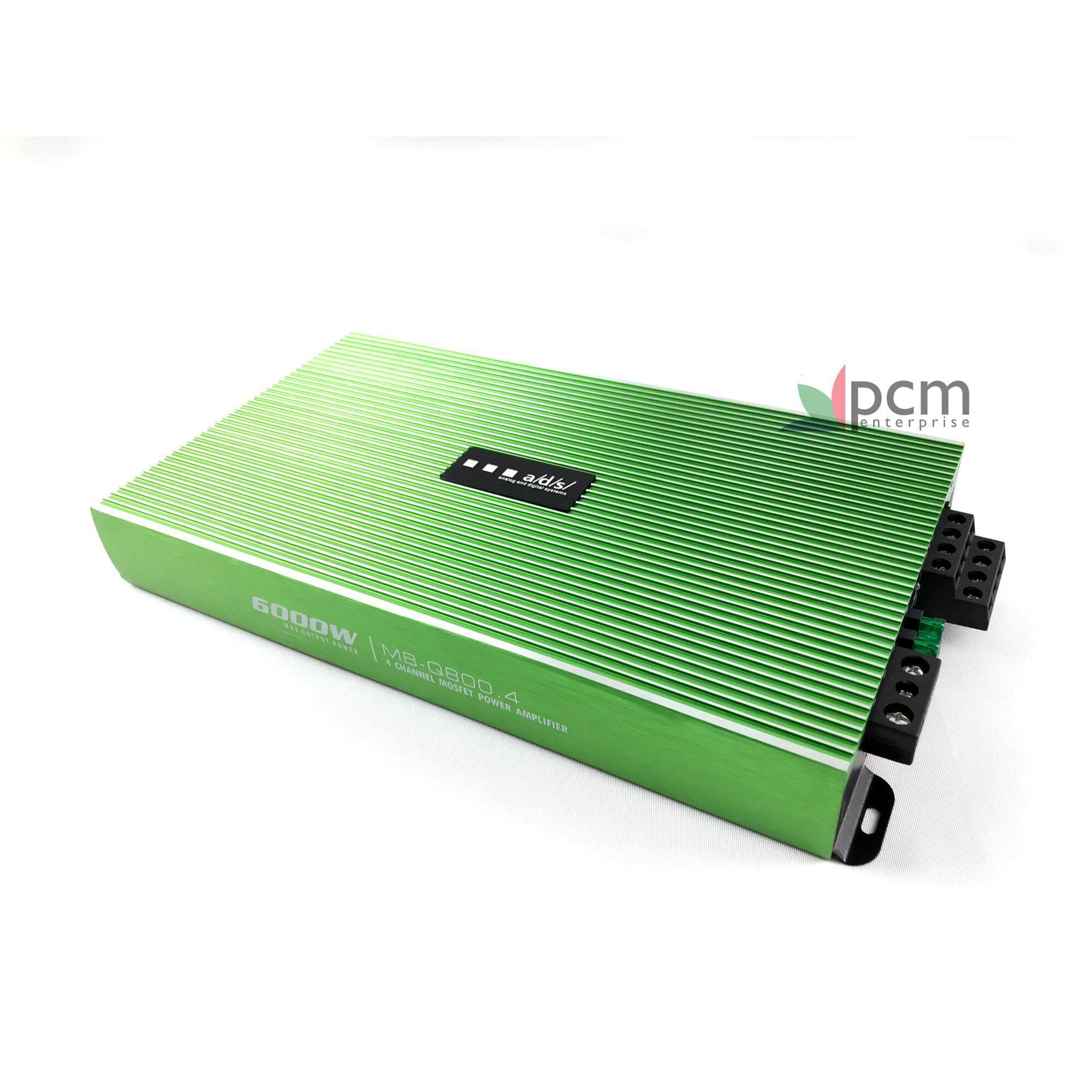 ADS [PCM] แอมป์ เครื่องขยายเสียง 4 ช่อง รถยนต์ รุ่น MB-Q800.4