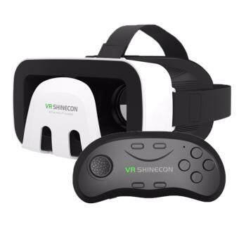 แว่นตา SHINECON VR เสมือนแท้ 3D VR BOX พร้อม Bluetooth Control สำหรับโทรศัพท์