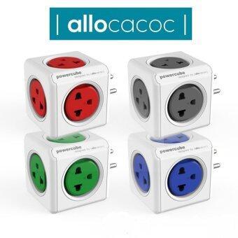 เสนอราคา Allocacoc PowerCube Original PH 4180GN Universalปลั๊กลูกเต๋าป้องกันไฟกระชาก (เทา)