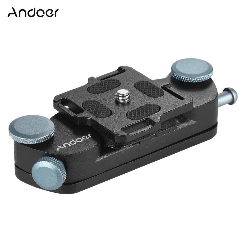 Andoer Metal Quick Release Camera Waist Belt Strap Buckle ButtonMount Clip for Canon Nikon Sony DSLR Cameras Max. Load Capacity20kg