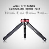 Andoer MT-01 Portable Aluminum Alloy Tabletop Tripod Mini Mobile/Camera Photography Bracket with 1/4 Screw Mount Max Load 80kg - intl