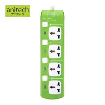 รีวิวพันทิป Anitech ปลั๊กพ่วง 4 ช่อง รุ่น H304-GR (สีเขียว)
