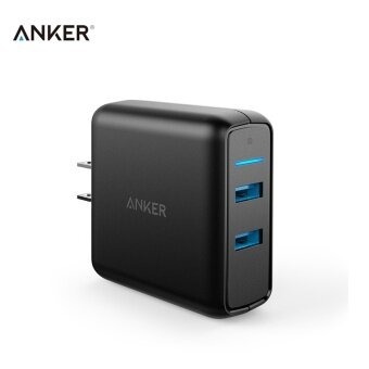 Anker Quick Charge 3.0 2 Port USB Charger 3A with QC3.0 USB Wall Charger 36W PowerPort Speed 2 for Samsung S7 Edge A2025 - intl