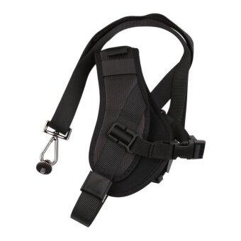 Anti-Slip Quick Rapid Shoulder Sling Belt Neck Strap for DSLRCameras (Black) - intl