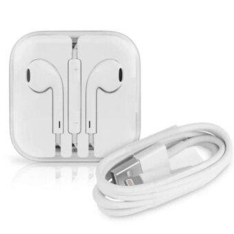Apple Lightning to USB Cable 1M + หูฟัง earpods พร้อมรีโมทและไมโครโฟน(White)