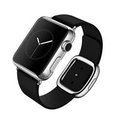 THB 499. Apple Watch Band,Modern Buckle Watch Band with Magnetic Design Genuine Leather Replacement Strap ...