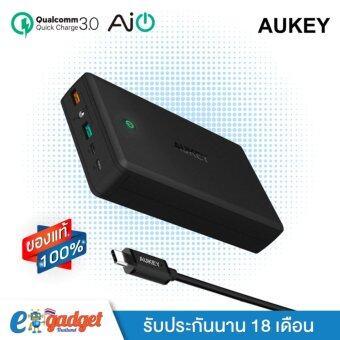 Aukey PowerTANK-T11 QC3.0 30000 mAh PowerBank\nแบตสำรองมือถือพร้อมระบบ QuickCharge 3.0 พาวเวอร์แบงค์ขนาด 30000 mAh
