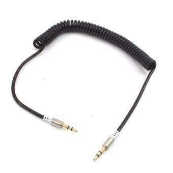 สายเสียง สายสปริง AUX audio หัวต่อตัว 2 ขีด 3.5 mm stereo