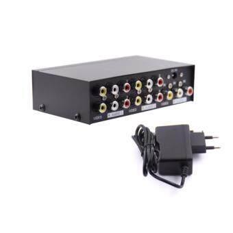 รีวิวพันทิป กล่องแปลงสัญญาณ AV Mt-104av 4 Port Video Audio Splitter 1 in 4 Out Av Divider Rca Splitter