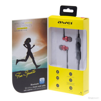 AWEI A990BL Wireless Sports Earphones For Calls And Music (Black) (image 1)