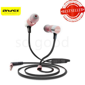 Awei ES-20TY Powerful Sound Experience Hi-Fi Earphones pink