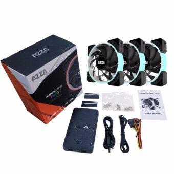 AZZA Fan Case 120MM. Hurricane RGB+LUMI - Black