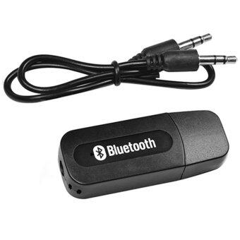 BB Shop USB Bluetooth Audio Music Wireless Receiver Adapter 3.5mm Stereo Audio (Black)