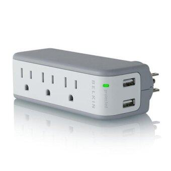 Belkin ปลั๊กไฟ Mini Travel Surge with USB Charger - 3 AC Sockets 2 USB (BZ103050thTVL)