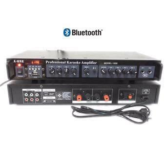 เครื่องขยายเสียงฺBLUETOOTH AC/DC คาราโอเกะ USB MP3 SDCARD Professional Karaoke Amplifier MODEL A-ONE 1000