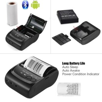 Bluetooth เครื่องพิมพ์ฉลาก Label Printer Business Printers ForWindows Android(สีดำ)