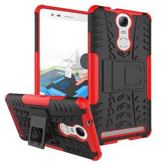 BYT Rugged Dazzle Case for Lenovo K5 Note with Kickstand (Red)