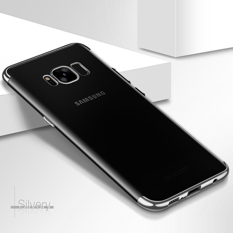ราคา : 373.00 THB สั่งซื้อสินค้าที่นี่. CAFELE Transparent TPU Colorful Plating Soft TPU Cover Case for Samsung Galaxy S8 Plus – intl