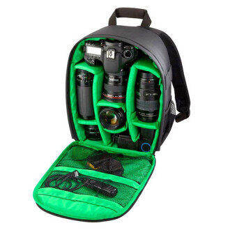 Camera Backpack Bag Waterproof DSLR Case for Canon/Nikon/Sony (Green)