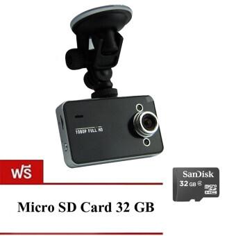 Camera good itกล้องติดรถยนต์HD Portable FULL HD1080 รุ่น K6000(สีดำ) ฟรีMemory Card 32 GBs