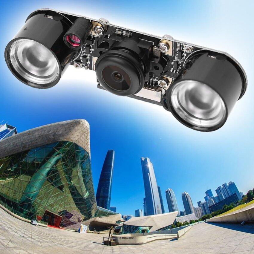 Camera Module For Raspberry Pi 3/2/B Wide Angle Fisheye Lens With Fill Light intl