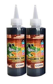 Canon Crocodite ink หมึกเติมTank สำหรับเครื่อง Canon ทุกรุ่น ขนาด100mlจำนวน 2 ขวด (Black)