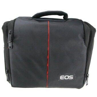 สุ้มเสียงหนึ่งกระเป๋าสะพายที่มีผ้าคลุมกันฝนสำหรับ Canon DSLR (สีดำ)