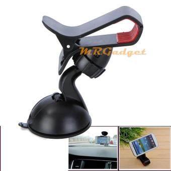 ที่วางโทรศัพท์ในรถ ติดกระจกรถ ขาตั้งที่วางโทรศัพท์มือถือในรถยนต์ Car Universal Holder สีดำ 9