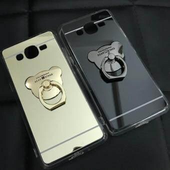 Case Samsung Galaxy J2 Prime เคสกระจกเงา แหวนตั้งได้ ขอบนิ่ม (Case TPU) สีดำ - 3