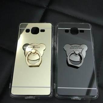 Case Samsung Galaxy J2 Prime เคสกระจกเงา แหวนตั้งได้ ขอบนิ่ม (Case TPU) สีดำ - 2