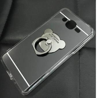 Case Samsung Galaxy J2 Prime เคสกระจกเงา แหวนตั้งได้ ขอบนิ่ม (Case TPU) สีดำ - 4
