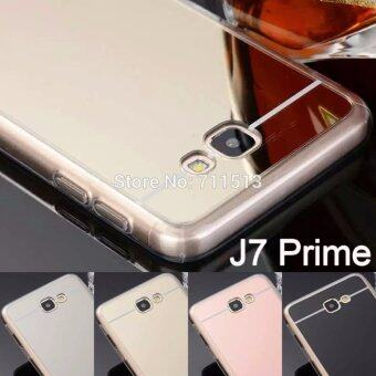 Case Samsung Galaxy J7 Primeเคสกระจกเงา ขอบยางLuxury Mirror SoftClear TPU Case/Cover Gold (สีทอง) (Gold) (image 1)