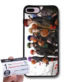 CASE88 Snap-on Hard Case with Black TPU Bumper  Warranty Card for [Apple iPhone 8 Plus] - Kuroko's Basketball Tetsuya Kuroko  \Generation of Miracles\ 1427 - intl