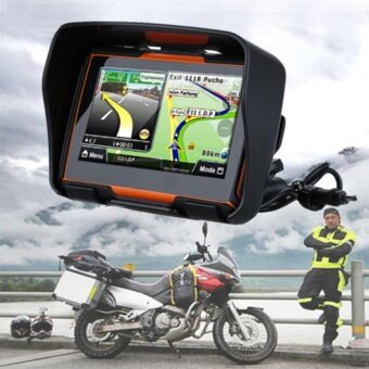 Catwalk 4.3\ Motorcycle GPS Bluetooth Navigator SAT NAV Touch Screen Waterproof 8GB+Maps - intl