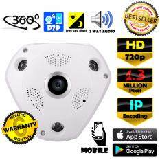 CCTV VR CAM กล้องวงจรปิด IP HD / 960p 1.3 MP ล้านพิกเซล IP กล้อง 720p / 960p เลนส์  360° + ฟรีอะแดปเตอร์