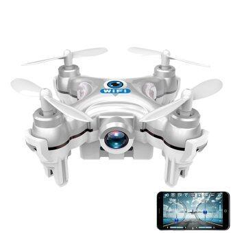 Cheersonโดรนบังคับ โดรนติดกล้องCheerson Drone CX10W Camera FPV 720PWi-Fiขนาดจิ๋ว6 cm -สีเงิน