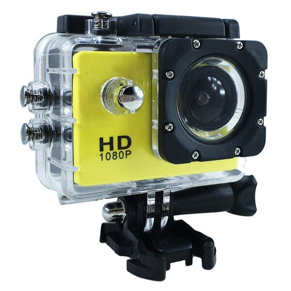 Ck Mobile Sport Action Camera 2.0 LCD Full HD 1080P No WiFi(สีเหลือง)