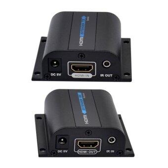 Ckeyin HD 1080P HDMI Extender 60M With IR over cat6 RJ45 (Black) - intl