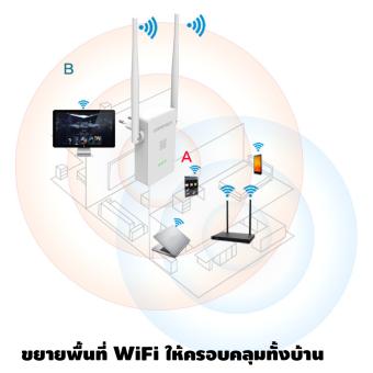Comfast ตัวขยายสัญญาณไวไฟ ในบ้าน คลื่น 2.4GHz ยี่ห้อ Comfast รุ่น CF-302S v2 (สีขาว) (image 4)