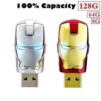 Computers Laptops Flash Drives 128Gb Iron Man Usb 2.0 High Speed Flash Storage Drive Memory Stick (Gold) - intl