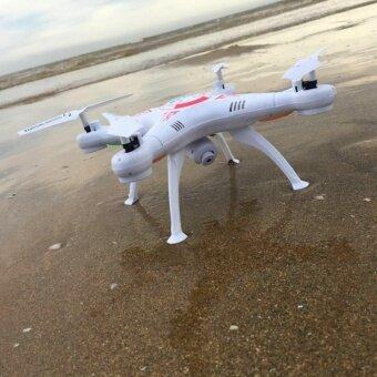โดรนบังคับ โดรนติดกล้อง Drone 2.4G VENTURE โดรน Wifi FPVดูภาพสดผ่านมือถือ กล้องชัด 2 ล้าน Pixel (สีขาว) แถม แบตสำรอง
