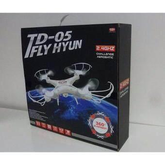 DRONE TD-05 FLY HUAN โดรนเครื่องบินรีโมทบังคับ บินผาดโผนตีลังกาได้ความถี่ 2.4GHZ 4CH 6-Axis Gyros RC + Remote Control Aircraft Roll360 Helicopters