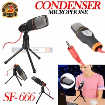 DT MicroPhone Condenser  (SF-666) Wired Stereo Audio Professional Condenser Microphone With Holder Clip Studio Sound Recording Shock Mount For PC Laptop - intl