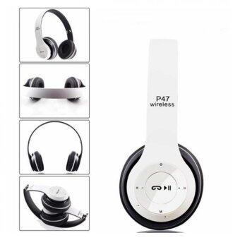 DT หูฟังบลูทูธแบบครอบหู รุ่น P47 Wireless (สีขาวดำ)