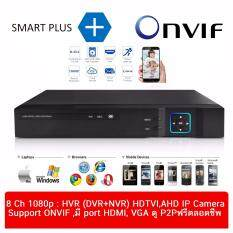 DVR (Hybrid DVR HVR) 8 ch 1080p จำนวน 8ch 5 in 1 (IP CAMERA + TVI + CVI + AHD + analog) FULL HD